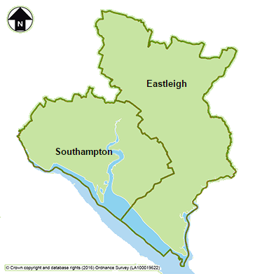 Map of Hampshire